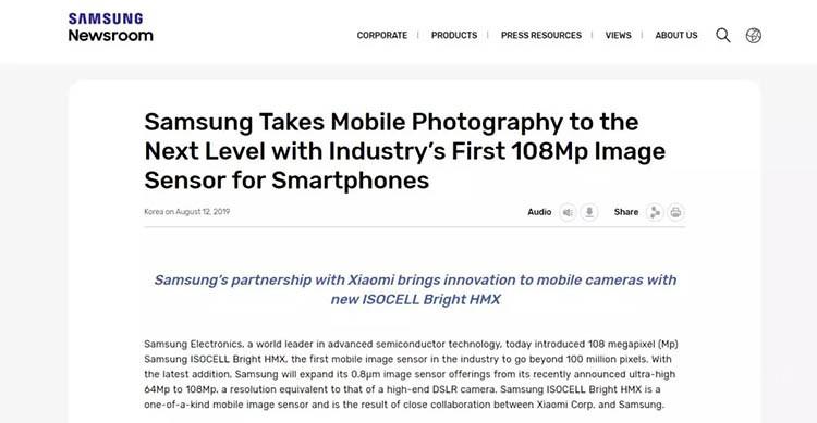 小米MIX 4首发1.08亿像素传感器 是噱头么
