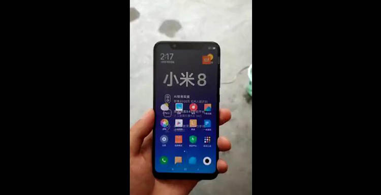 小米8真机视频曝光 妥妥的廉价iPhone X